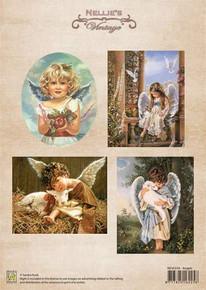 Nellie's Vintage Prints-Christmas Colour Vintage Angels NEVI018