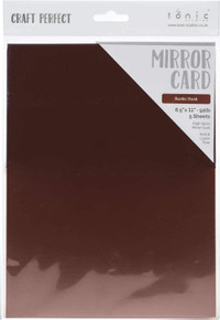 TONIC STUDIOS Craft Perfect Mirror Cardstock 92lb 8.5'X11' 5/Pkg-Rustic Dusk