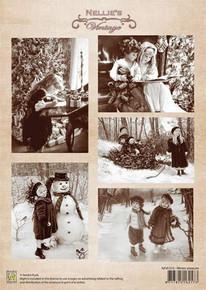 Nellie's Vintage Prints-Winter Pleasures NEVI010