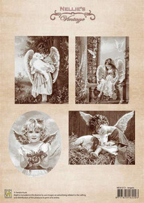 Nellie's Vintage Prints- Angels NEVI013