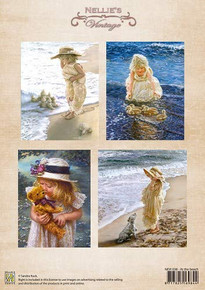 Nellie's Vintage Prints-at The Beach NEVI038