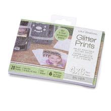 Darice Coredinations COR30001960 Silver Glitter Paper Pad, 4' by 6'