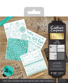 Crafter's Companion Foil Transfers - Time for Tea, 17.5 x 15.6 x 0.2 cm