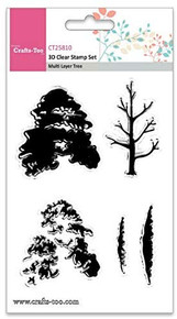 Crafts-Too 3D Clearstamp Set - Multi Layer Tree (5pcs) CT25810