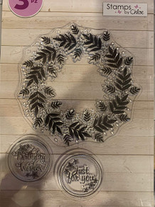 Crafter's Companion Clear Stamps Set Leafy Wreath