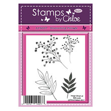 Crafter's Companion Clear Stamps Set Blossoming Foliage