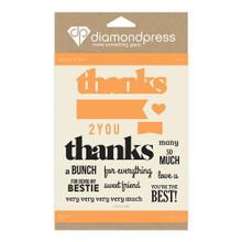 Diamond Press Stamp & Dies Thanks DP1226