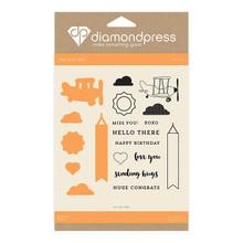 Diamond Press Stamp & Dies Hello There DP1231