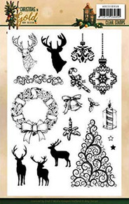 Amy Design - Christmas in Gold - Clear Stamps Images 14.8 x 21 cm ADCS10059