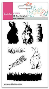 Crafts-Too 3D Clearstamp Set - Multi Layer Bunny (7pcs) CT25806