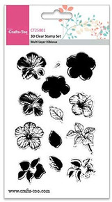 Crafts-Too 3D Clearstamp Set - Multi Hibiscus (13pcs) CT25801