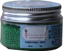 Dress My Craft Flower Pearls 1oz-Green