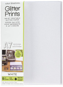 Darice CORE'DINATIONS A7 White Glitter Cards & Envelopes