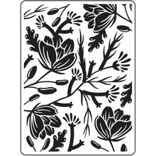 DARICE 30023113 Embossing Folders: Flower Pod Background, 4.25'X5.75', Multicolor