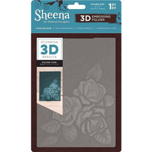 Crafter's Comapnion Sheena 3D Embossing Folder - Tangled Rose - 5x7