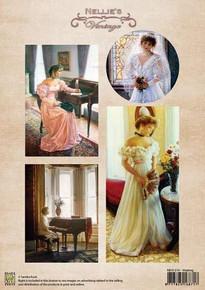 Nellie's Vintage Prints- Waiting NEVI019