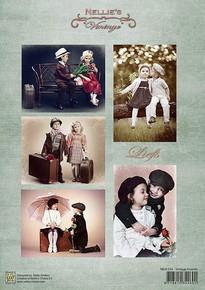 Nellie's Vintage Prints- Vintage Friends NEVI054