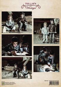 Nellie's Vintage Prints- Vintage Playing Friends NEVI057