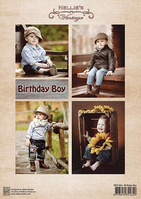 Nellie's Vintage Prints- Birthday Boy NEVI064