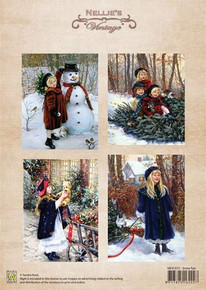 Nellie's Vintage Prints- Snow Fun NEVI015