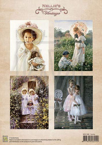 Nellie's Vintage Prints- Family NEVI008