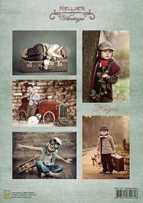 Nellie's Vintage Prints- Vintage Boys NEVI055