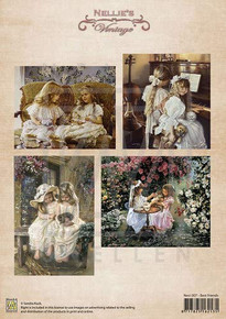Nellie's Vintage Prints- Best Friends NEVI007