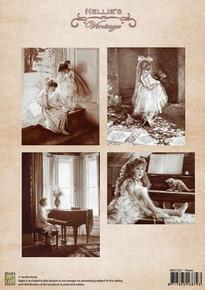 Nellie's Vintage Prints- Piano NEVI027