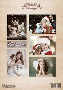 Nellie's Vintage Prints- Christmas Girls NEVI062
