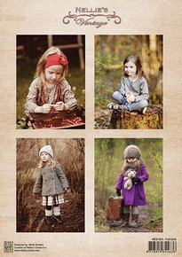 Nellie's Vintage Prints- Fall Girls NEVI065