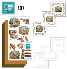 Stitch and Do Embroidery on Paper kit Amy Design Wild Animals Card Making Kit