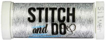 Stitch and Do Embroidery Thread 200 m Roll- Silver SDHDM08