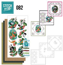 Stitch and Do Embroidery on Paper kit Amy Design Oriental Card Making Kit