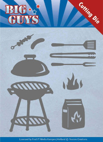 Yvonne Creations Big Guys- BBQ Time Cutting Die Set YCD10171