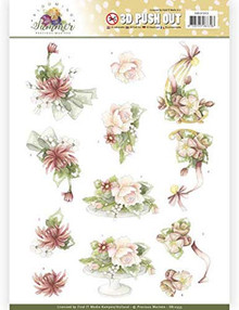 Precious Marieke Blooming Summer- Sweet Summer Flowers 3D Push Out Sheet SB10353