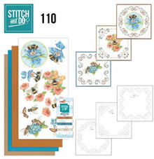 Stitch and Do Embroidery on Paper kit Amy Design Bees and Flowers Card Making Kit