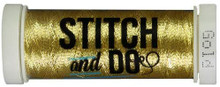 Stitch and Do Embroidery Thread 200 m Roll- Gold SDHDM07
