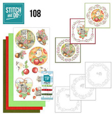 Stitch and Do Embroidery on Paper kit Amy Design Outdoor Beauty Card Making Kit