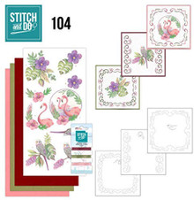 Stitch and Do Embroidery on Paper kit Card Amy Design in The Tropics Making Kit