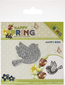 Precious Marieke Happy Spring - Happy Birds Cutting Dies PM10151