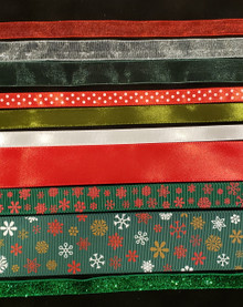 Christmas Ribbons Variety Pack- Classic Colors