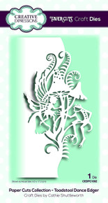 Creative Expressions Paper Cuts Collection Toadstool Dance Edger Die