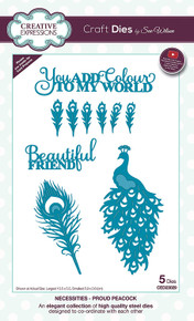 Creative Expressions Dies by Sue Wilson Necessities Collection Proud Peacock, CED23029