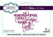 Creative Expressions Dies by Sue Wilson Mini Expressions Collection When Life Gives You Scraps, CEDME042