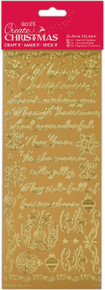 Papermania Outline Stickers-Traditional Christmas Vereses -Gold