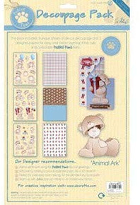 DOCrafts A4 Decoupage Die Cut Pack – Animal Ark (1PK) Teddy Bear PDP1691100