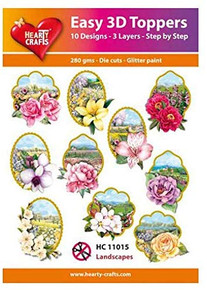 Hearty Crafts Easy 3D Toppers Landscapes HC11015