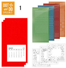 Find It Trading Dot and Do Four Seasons Calendar Card Kit Makes 3
