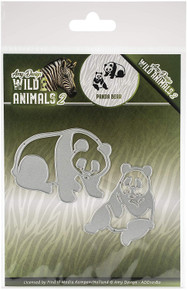 Find It Trading Amy Design Cutting Dies Wild Animals 2 - Panda Bear 10.0 x 8.3 cm ADD10180