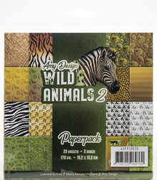 Find It Trading Amy Design Wild Animals 2 6x6 in Paperpack ADPP10026